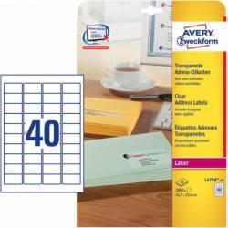 Etichete transparente Avery Zweckform 45,7x25,4 mm Articole and accesorii birou