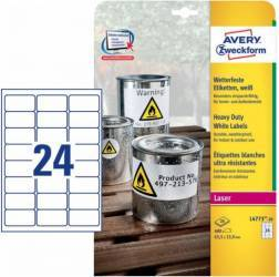Etichete transparente Avery Zweckform 63,5x33,9 mm Articole and accesorii birou