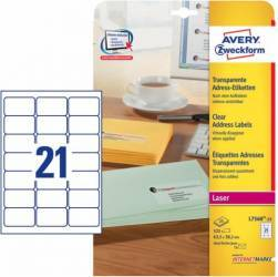 Etichete transparente Avery Zweckform 63,5x38,1 mm Articole and accesorii birou