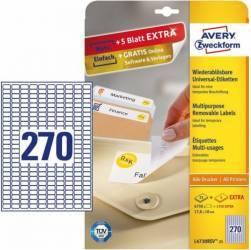 Etichete universale Zweckform 17,8x10 mm Alb Articole and accesorii birou