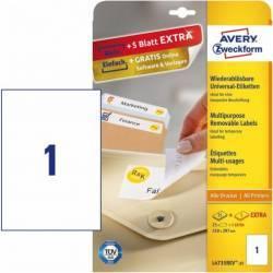Etichete universale Avery Zweckform 210x297 mm Alb Articole and accesorii birou