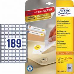 Etichete universale Avery Zweckform 25,4x10 mm Alb Articole and accesorii birou