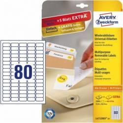 Etichete universale Avery Zweckform 35 6x16 9 mm Alb Articole and accesorii birou