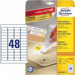 Etichete universale Avery Zweckform 45,7x21,2 mm Alb Articole and accesorii birou