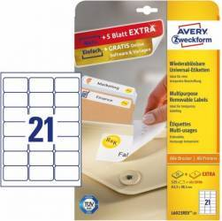 Etichete universale Zweckform 63,5x38,1 mm Alb Articole and accesorii birou