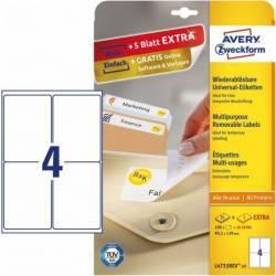 Etichete universale Zweckform 99,1x139 mm Alb Articole and accesorii birou