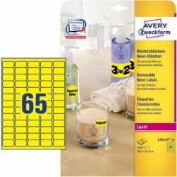 Etichete Avery Zweckform 38.1x21.2 mm Galben Fosforescent Articole and accesorii birou