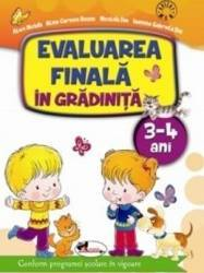 Evaluarea finala in gradinita 3-4 ani - Alice Nichita Carti