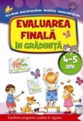 Evaluarea finala in gradinita 4-5 ani - Alice Nichita Carti