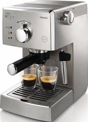 Espressor manual Saeco Poemia HD842719 Dispozitiv spumare 15 Bar 1.25L Inox Resigilat Espressoare