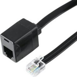 Extensie cablu Hama Modular plug US6P6C-modular jack US 6P6C 15m Accesorii retea