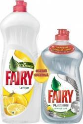 Fairy Lemon 900ml+Fairy Platinum Lemon&Lime 480ml Curatenie Bucatarie