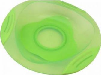 Farfurie Primii Pasi R0542 cu Ventuza si Contur Moale Verde Cani, pahare, accesorii masa