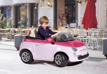 Fiat 500 Pink cu Telecomanda Jucarii cu Telecomanda