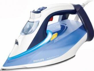 Fier de calcat Philips PerfectCare Azur GC4924/20, Talpa T-ionicGlide, 2800 W, 0.35 l, 200 g/min, Alb/Albastru