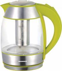 Fierbator cu filtru de ceai Heinner Charm HEK-TF2200GR 2200W 1.8L Baza rotativa Verde Fierbatoare