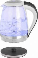 Fierbator din sticla cordless Domoclip DOD 139 2200 W 1.5 l Baza rotativa 360 Alb Fierbatoare