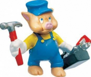 Figurina Bullyland Little Pigs Mechanic Papusi figurine si accesorii papusi