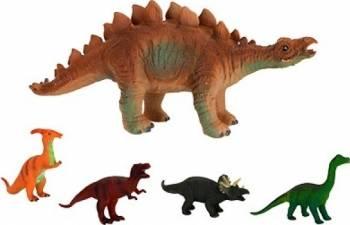Figurina dinozaur moale cu sunete specifice 25 cm Papusi figurine si accesorii papusi