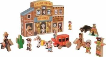 Figurina Janod My Story - Wild West 15 pieces Papusi figurine si accesorii papusi