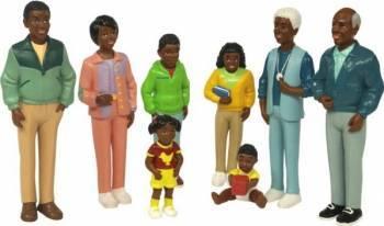 Figurine familie africana Miniland Papusi figurine si accesorii papusi