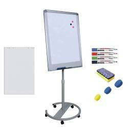 pret preturi Flipchart mobil Premium 70x100 cm inaltime ajustabila + accesorii hartie flipchart markere burete magneti