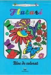 Fluturi - Bloc de colorat