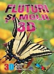 Fluturi si molii 3D + ochelari Carti