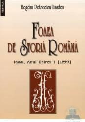 Foaia de istoria romana - Iasi 1859 - Bogdan Petriceicu Hasdeu