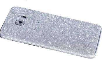 Folie Autocolanta Cu Sclipici Pentru Samsung Galaxy A3 A310 2016 Argintiu Folii Protectie