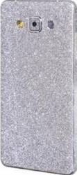 Folie Autocolanta Cu Sclipici Pentru Samsung Galaxy A7 A700 2015  Argintiu folii protectie