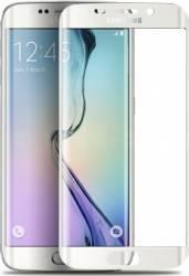 Folie Protectie Sticla 3D Tellur Samsung Galaxy S6 Edge Curbata Alba