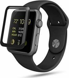 Folie Protectie Sticla Securizata Curbata Apple Watch 38 mm Negra Accesorii Smartwatch