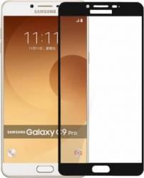 pret preturi Folie protectie sticla securizata full size pentru Samsung GalaxY C9 Pro Negru