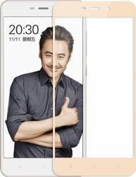 Folie protectie sticla securizata full size pentru Xiaomi Redmi 4A auriu Folii Protectie