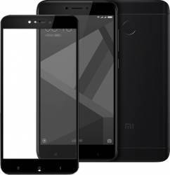 Folie protectie sticla securizata full size Xiaomi Redmi 4X negru Folii Protectie