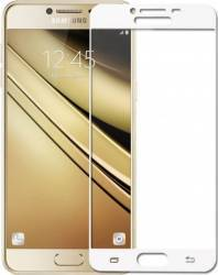 Folie Protectie Sticla Securizata Samsung Galaxy C5 Alb Folii Protectie