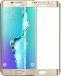 Folie protectie sticla securizata Samsung Galaxy S6 Edge curbata fata spate Gold Folii Protectie