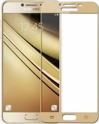 Folie Protectie Sticla Securizata Full Body Zmeurino Samsung Galaxy C7 Auriu Folii Protectie