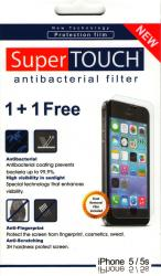 pret preturi Folie Protectie SuperTOUCH Antibacterial iPhone 5 5S - 2buc