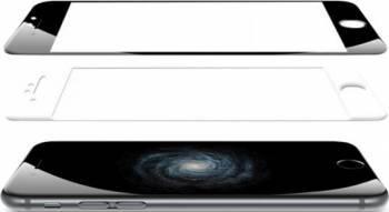 Folie Protectie Sticla 3D Tellur Apple iPhone 6 Plus Curbata Alba