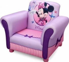 Fotoliu cu cadru din lemn Disney Minnie Mouse Mobila si Depozitare jucarii