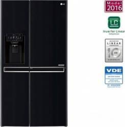 Side by side LG GSJ760WBXV 601 L A+ Full NoFrost Inverter Smart Diagnosis Negru Frigidere Side By Side