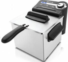 Friteuza cu filtrare ulei Taurus Professional 2 1700W 2L Termostat reglabil Negru-Argintiu Friteuze
