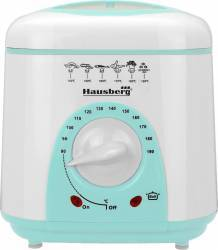 Friteuza Hausberg HB-1320 950W 1L Alb/Turquoise Friteuze