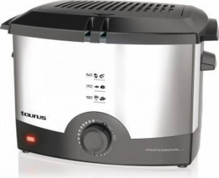 Friteuza Taurus professional 1 1000 W Capacitate ulei 1.2L Capacitate 620g Termostat reglabil Inox Friteuze