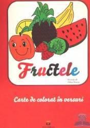 Fructele - Carte de colorat in versuri - Mihai Neacsu