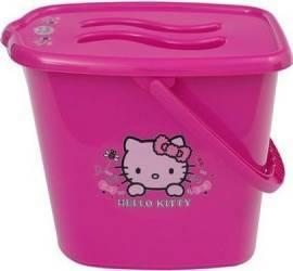 Galeata pentru scutece cu capac MyKids Hello Kitty Roz