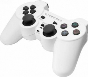 Gamepad Wireless Esperanza EGG108W Gladiator PC/PS3 Alb Gamepad & Joystick