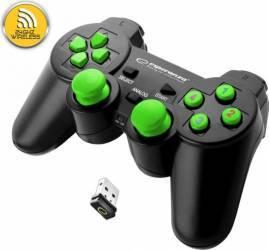 Gamepad Wireless Esperanza EGG108G Gladiator PC/PS3 Verde Gamepad & Joystick